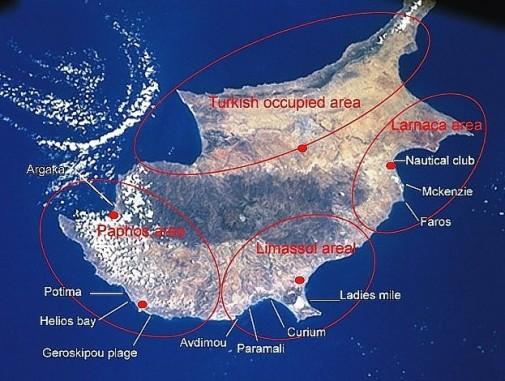 kitesurf spots op cyprus
