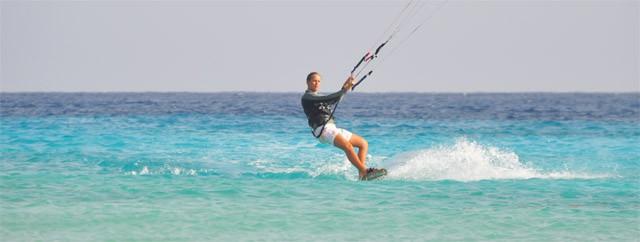 upwind kiteboarden