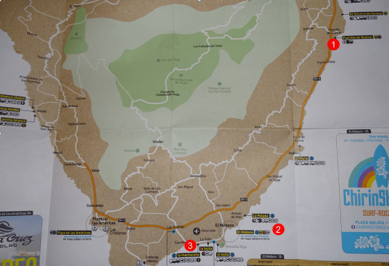 tenerife kitesurf map